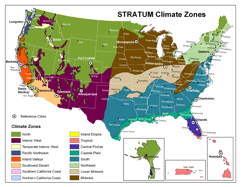 Climate Zones Of The Continental United States RVing Pinterest - Us climate map zone