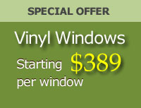 Special offer for vinyl window replacement & installation, offered by AAA Windows for Less